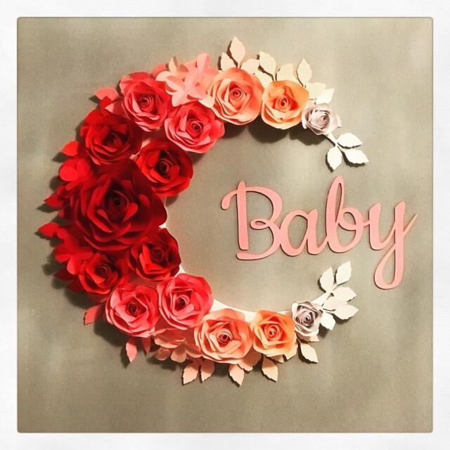 Baby Shower Nursery Girls Bedroom Paper Flower Wall Decoration In Billericay Essex Gumtree