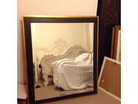 Stunning extra large mirror. Black and gold frame. 112x126cm. Great quality.