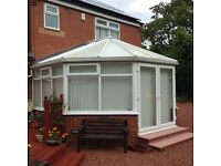5m x 4m Victorian Conservatory with blinds