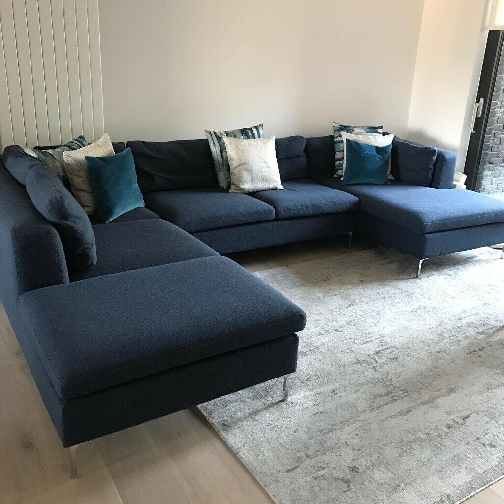 new styles 6a48b 6dfdb New 6 Seater Sofa - Monterosso Storm Blue Premium Fabric | in Plaistow,  London | Gumtree