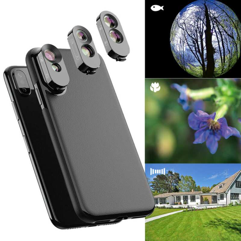 Camera Lens Fisheye Wide-angle Telephoto Macro Case Cover Fo