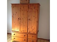 Quality Triple Wardrobe with deep drawers