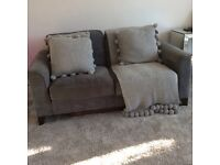 Almost new very comfy two seater feather sofa
