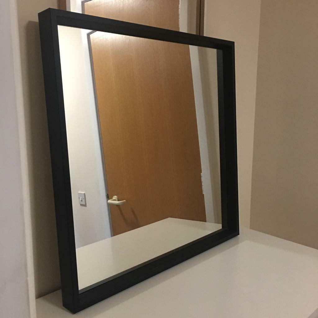Black Edged Mirror - PERFECT CONDITION