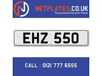 'EHZ 550' Personalised Number Plate Audi BMW Ford Golf Mercedes VW Kia Vauxhall Caravan van 4x4