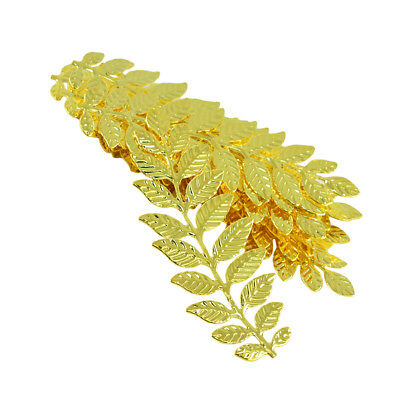 12 Pieces Filigree Leaf Branch Charm Pendant Jewelry Making Findings Gold 12 Piece Jewelry Findings