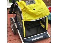 Raleigh 2 seat child bike trailer
