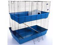 Brand New - 2 tier - Indoor Rabbit Cage Hutch + Accessories