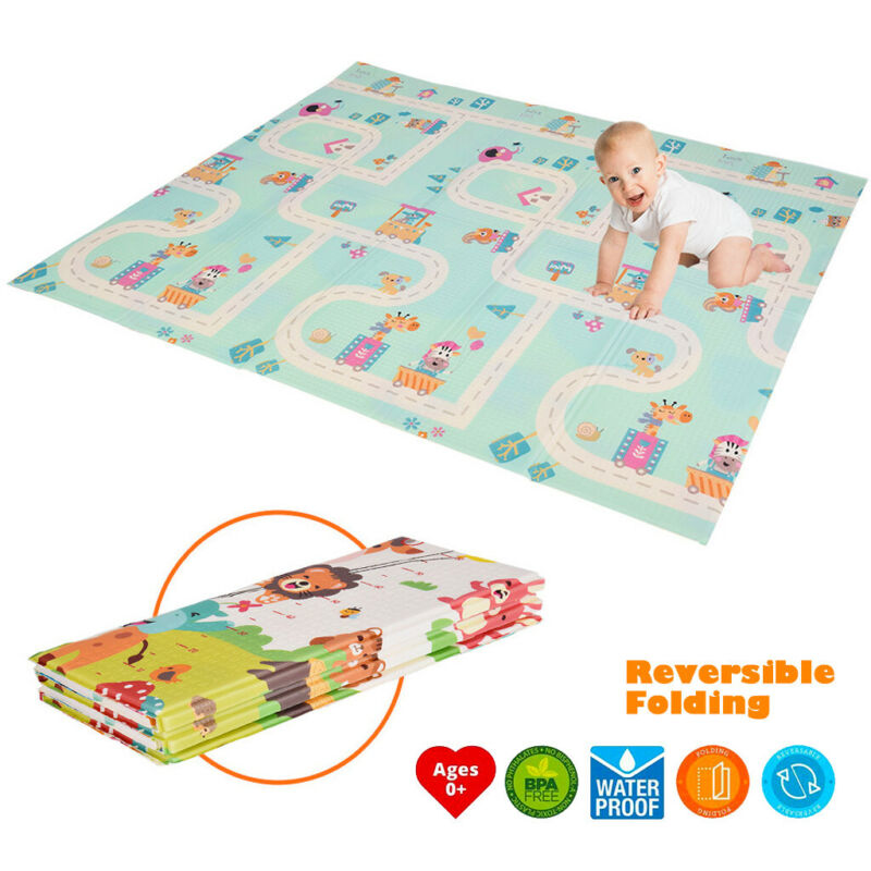 """Soft XPE Baby Kids Game Gym Play Mat 0.4"""" Thicknes Crawling"""