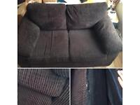 Large 2 Seater Brown sofa. Soft material.