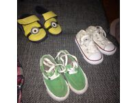 Converse white trainers size 5 toddlers with extra items