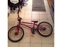 """Frank Blank 20"""" top bar BMX bike."""
