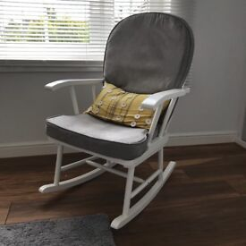 Grey and White Nursing Rocking Chair - Excellent Condition - Smoke Free Home