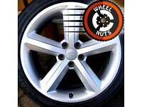 """18"""" Genuine Audi A4 S Line alloys good cond with tyres."""