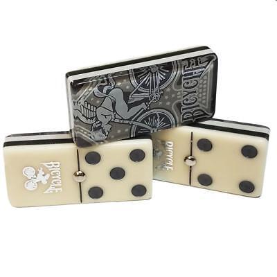 Jumbo Domino Double Six Bicycle Card Back   Deluxe Wood Case