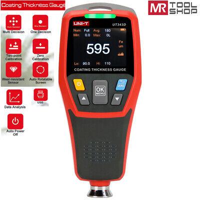 Uni-t Portable Digital Painting Thickness Meter Car Coating Gauge Tester Ut343d