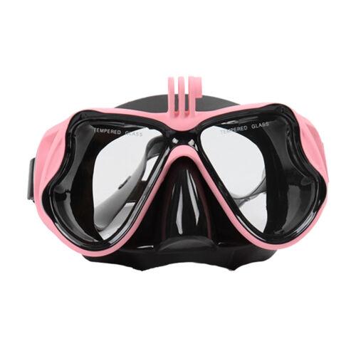 Tauchmaske Unisex Taucherbrille Schnorchelmaske mit Kamera Halterung für