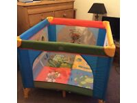 Lovely Kiddicare playpen hardly used in excellent condition , complete with carry bag