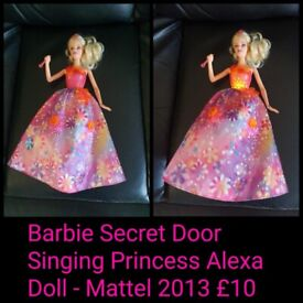 Barbie Secret Door Singing Princess Alexa Doll.