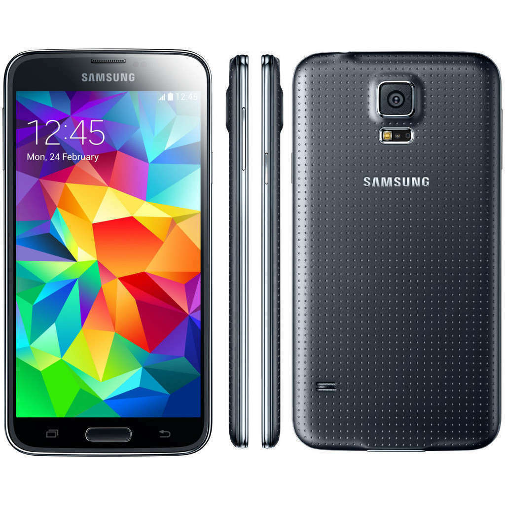 $149.75 - New Samsung G900A Galaxy S5 Charcoal Black 16GB WiFi GPS 16MP AT&T Unlocked GSM