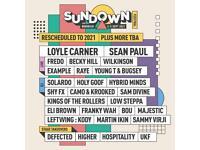 X2 Sundown Festival weekend no camping tickets