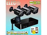 8CH 4 cameras 1080N DVR 720P CCTV Home Surveillance Security Camera System IR Night Vision