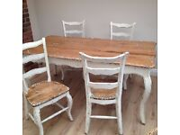 Nordal Dining Table & Four Chairs (seats six) RRP £2495