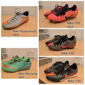 5 x Junior Nike Football Shoes