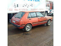 Left hand drive Toyota Starlet KP61L 1.3 S. REAR WHEEL DRIVE. 5 speed. Race / Drift / Rally.