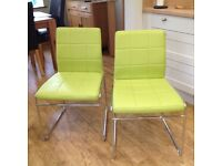 Two retro chairs suitable for dinning, office or bedroom