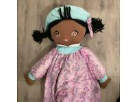 """Vintage SWEETIE MINE JUMBO RAG DOLL Child Sized Soft Lilac WELL MADE 48"""""""