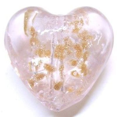 4 Pieces Lampwork Heart Glass Beads - 20mm - A3980