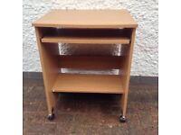 Wood effect small desk