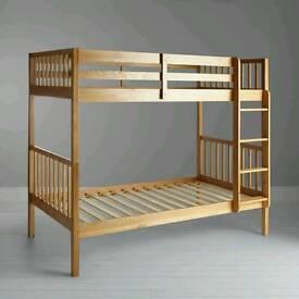 New!John Lewis Morgan Bunk Bed, Oak