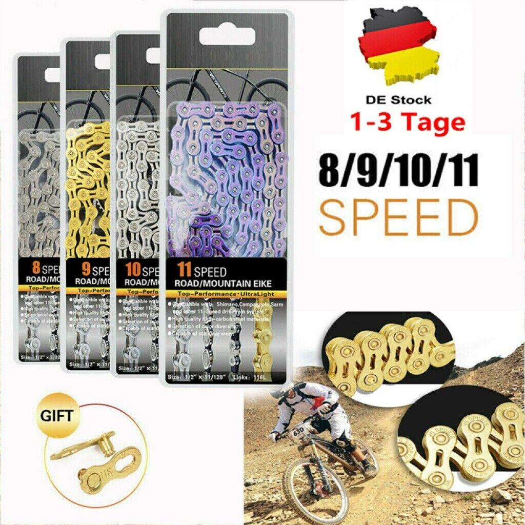 Fahrrad Ketten 8//9//10 Fach Fahrradkette inkl Gang Schaltung Fahrrad Kettenschloß