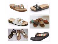 Womens Ladies Job Lot Flat Shoes, Sandals Clearance Wholesale