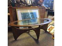 G plan rectangular coffee table