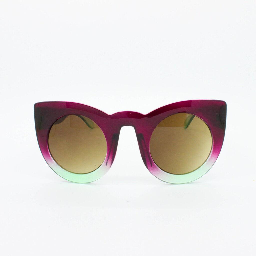 Women/'s Thick Frame OVERSIZE Cat Eye Sunglasses Large Round VTG Retro Women 80/'s