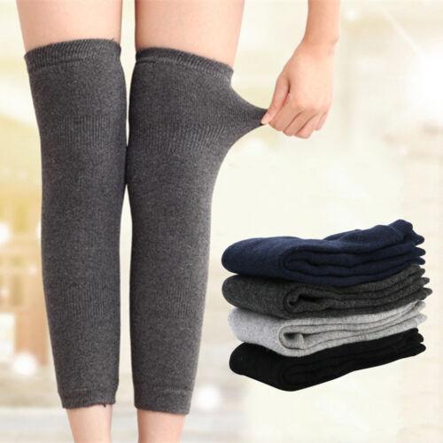 Womens Mens Warm Cashmere Wool Knee Warmers Leg Thigh High S