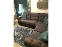 Large Corner couch sofa Grey