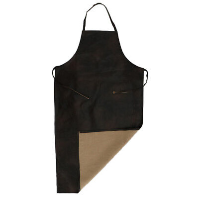 Leather Waterproof Apron Restaurant Kitchen Butcher Industrial Antifouling L