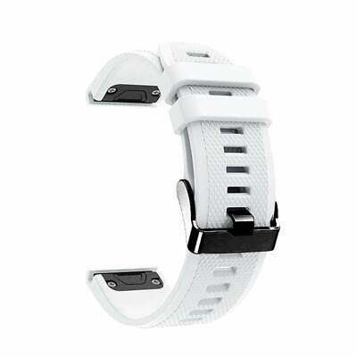 Laufbursche Zubehör Ersatz Armband für Garmin Fenix 6 Silikon weiß