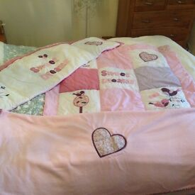 Sweet dreams cot bed bedding set