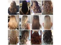 Mobile Luxury Hair Extensions - Tape In, microrings, keratin bonds, Microweft, keratin straigtening