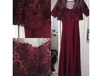 Wine Red Occasion Maxi Dress