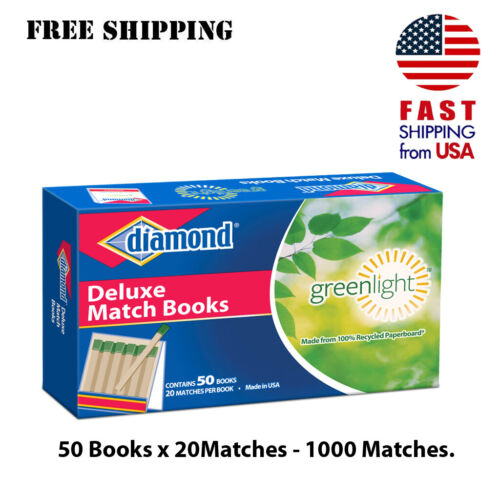 50 books of 20 matches Deluxe Match Book Candles fireplace DIAMOND 1000 - NEW