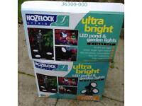 Ultra bright set of 3 hose lock,under water and garden lights