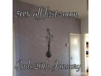 50% off first room share and like our Facebook page @finishingtouch85