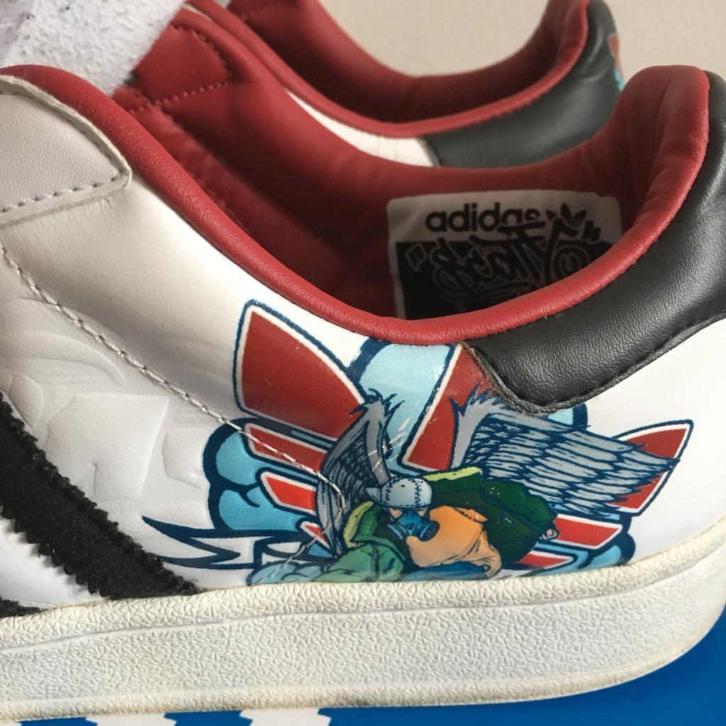 53b54981 Scotty 76 Adidas Superstars Graffiti UK Size 10 | in Bournemouth ...