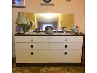Beautiful vintage dressing table with full length mirror